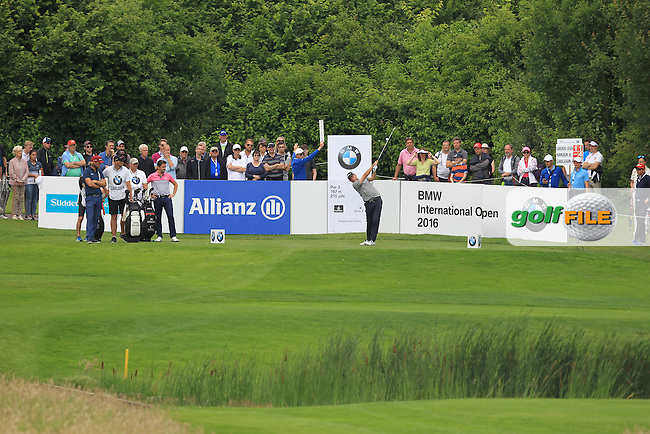 Anders Hansen (DEN) on the 8th tee during Round 4 of the 2016 BMW International Open at the Golf Club Gut Laerchenhof in Pulheim, Germany on Sunday 26/06/16.<br /> Picture: Thos Caffrey | Golffile