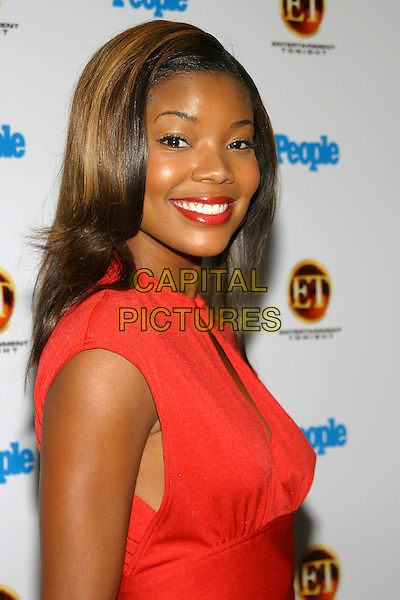 GABRIELLE UNION.The Entertainment Tonight Emmy Party Sponsored by People Magazine held at The Mondrian. .headshot, portrait, red top, sleeveless.www.capitalpictures.com.sales@capitalpictures.com.© Capital Pictures.