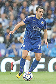 9th September 2017, King Power Stadium, Leicester, England; EPL Premier League Football, Leicester City versus Chelsea; Matthew James of Leicester City brings the ball out of defence