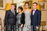 Enjoying the Gaelcholáiste Chiarraí Debs ball at the Brandon Hotel on Saturday were l-r  Dominic Keane, Megan Jones, Susie De-Ris and Donagh McElligott