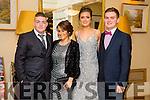 Enjoying the Gaelcholáiste Chiarraí Debs ball at the Brandon Hotel on Saturday were l-r  Dominic Keane, Megan Jones, Susie De-Ris and Donagh McElligott