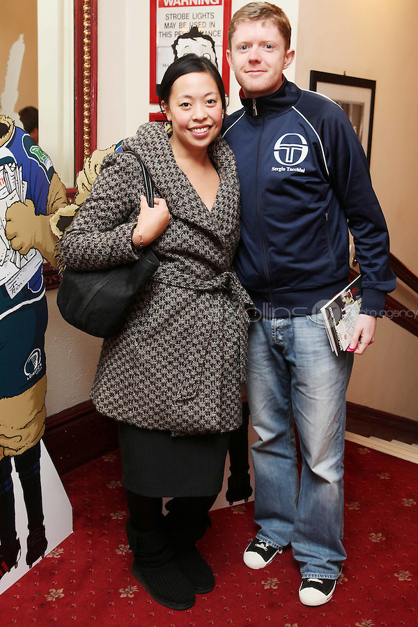 NO FFE. 19/10/2010. Ross O'Carroll Kelly play Between Foxrock and A Hard Place. Wing Yip and Adrian Barry are pictured at the Olympia Theatre for the opening night of the new Ross O'Carroll Kelly new play Between Foxrock and A Hard Place. Picture James Horan/Collins
