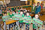 C'MON MILLTOWN: Second class pupils at Nagle-Rice national school in Milltown who have composed a poem for Milltown-Castlemaine ahead of their All-Ireland Intermediate Final this Sunday.