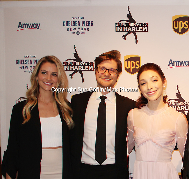 Tanith Belbin and Charlie White & Meryl Davis - Figure Skating in Harlem presents Champions in Life Benefit Gala on April 29, 2019 at Chelsea Pier, New York City, New York - (Photo by Sue Coflin/Max Photos)