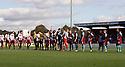 Pre-match handshake. Stevenage v Scunthorpe United - npower League 1 -  Lamex Stadium, Stevenage - 6th October, 2012. © Kevin Coleman 2012