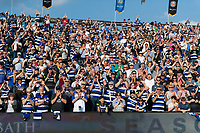A general view of Bath Rugby supporters. Aviva Premiership match, between Bath Rugby and London Irish on May 5, 2018 at the Recreation Ground in Bath, England. Photo by: Patrick Khachfe / Onside Images