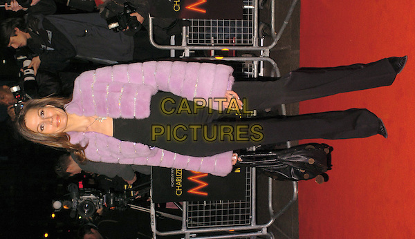 ISABELLA KRISTENSEN.Monster premiere at Vue (formerly Warner Village West End) in Leicester Square.31 March 2004.full length, full-length, purple fur bolero jacket.www.capitalpictures.com.sales@capitalpictures.com.©Capital Pictures