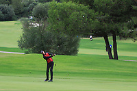 Sebastian Heisele (GER) on the 7th fairway during Round 4 of the Challenge Tour Grand Final 2019 at Club de Golf Alcanada, Port d'Alcúdia, Mallorca, Spain on Sunday 10th November 2019.<br /> Picture:  Thos Caffrey / Golffile<br /> <br /> All photo usage must carry mandatory copyright credit (© Golffile | Thos Caffrey)