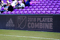 Orlando, Florida - Wednesday January 17, 2018: Signboard. Match Day 3 of the 2018 adidas MLS Player Combine was held Orlando City Stadium.