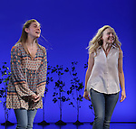 Laura Dreyfuss and Rachel Bay Jones during the Broadway Opening Night Performance Curtain Call for 'Dear Evan Hansen'  at The Music Box Theatre on December 3, 2016 in New York City.
