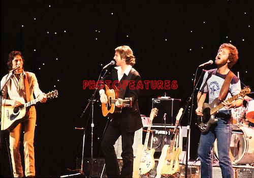 McGuinn Clark Hillman 1979 Gene Clark, Roger McGuinn and Chris Hillman on Midnight Special.© Chris Walter.