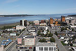 "View of west end of downtown Anchorage, Alaska between ""K and ""L"" Streets viewed to north.<br />