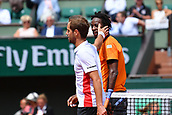 4th June 2017, Roland Garros, Paris, France; French Open tennis championships;  Gael Monfils (Fra) defeated Richard Gasquet (Fra)
