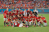 Manchester United defeated Liverpool in the final of the second annual Guinness International Champions Cup. Coach Louis van Gaal's club won all four matches outscoring the competition 9 goals to 4.