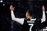 Cristiano Ronaldo of Juventus celebrates after scoring the goal of 1-0 for his side <br /> Torino 19/10/2019 Allianz Stadium <br /> Football Serie A 2019/2020 <br /> Juventus FC - Bologna <br /> Photo Federico Tardito / Insidefoto