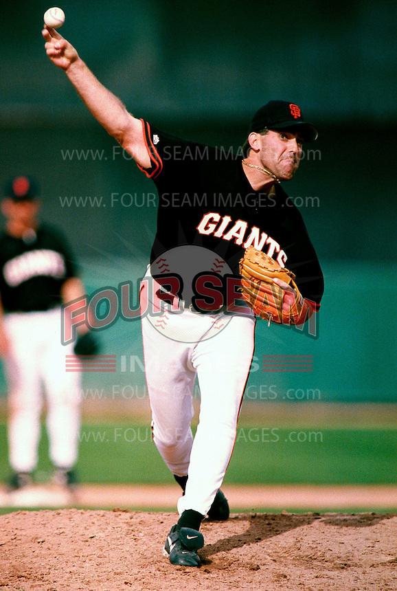 Robb Nen of the San Francisco Giants participates in a Major League Baseball Spring Training game during the 1998 season in Phoenix, Arizona. (Larry Goren/Four Seam Images)