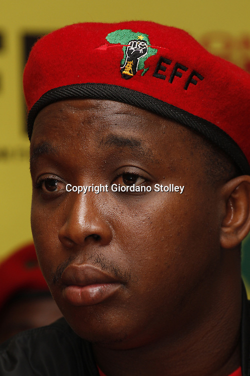 DURBAN - 14 August 2013 - Nathi Phewa, the KwaZulu-Natal coordinator of the newly formed Economic Freedom Fighters political party at the party's first press briefing in KwaZulu-Natal. EFF was founded by expelled ANC Youth League president Julius Malema. Its key policies include expropriation of land without compensation and the nationalisation of mines and banks among others. Picture: Giordano Stolley
