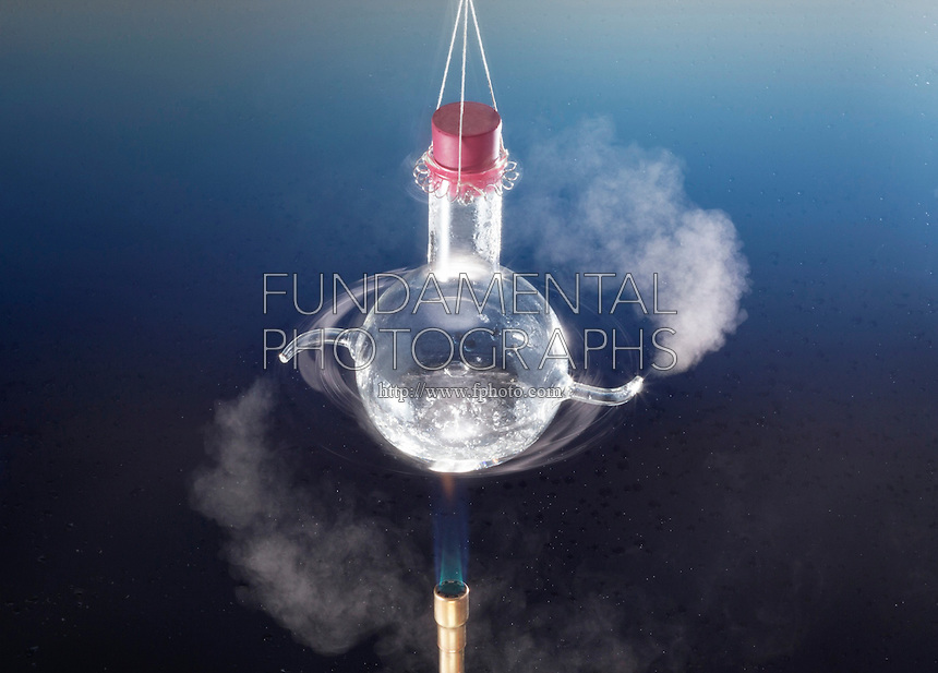 HERO'S ENGINE OR AN AEOLIPILE<br /> A Bladeless Radial Steam Turbine.<br /> Water is heated to produce steam which accelerates out of small tubes, creating thrust or torque to spinthe engine. By converting heat into mechanical energy it demonstrates the Bernoulli principle & Newton's 3 laws.