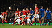 17th March 2018, Principality Stadium, Cardiff, Wales; NatWest Six Nations rugby, Wales versus France; Gareth Davies of Wales kicks the ball dead to win the game 14-13