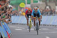 RIO DE JANEIRO, BRAZIL - AUGUST 06:  Van Avermaet Greg of Belgium wins the gold medal at the Mens Road race during the Rio 2016 Summer Olympic Games on August 06, 2016 in Rio de Janeiro, Brazil. 6/08/2016 <br /> victoire et champion olympique<br /> Ciclismo su Strada 06-08-2016 <br /> Foto Panoramic/Insidefoto