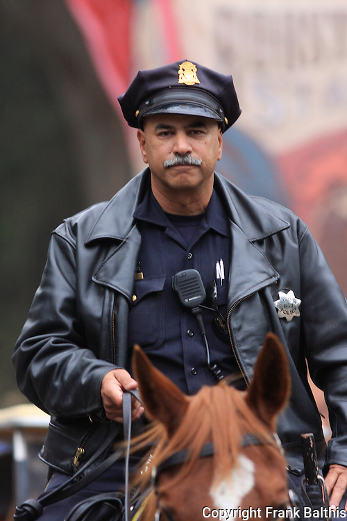 San Francisco mounted police patrol, Golden Gate Park