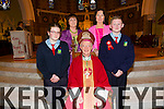 6th class students Doreen Murphy, Aaron O Connor of Scoil Íde were Confirmed at St Stephen and St John, Castleisland on Friday 27 February  By Bishop Ray Browne, Pictured also teachers Elizabeth Sweeney and  Cáit Daly