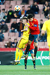 Romania's Dragus Denis and Spain's Jesus Vallejo   during the International Friendly match on 21th March, 2019 in Granada, Spain. (ALTERPHOTOS/Alconada)