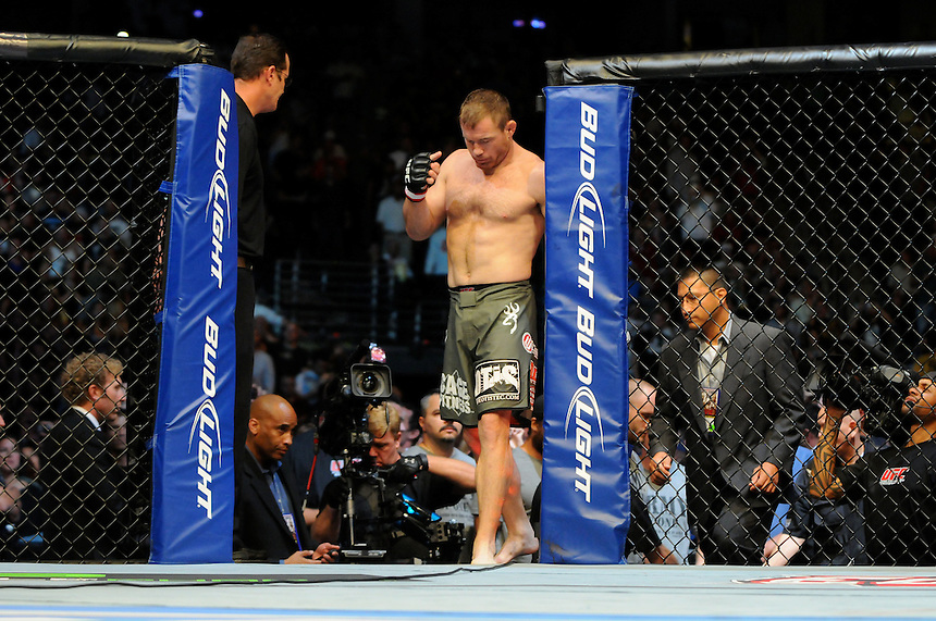 24 SEPTEMBER 2011:    Matt Hughes comes into the ring during UFC 135 at the Pepsi Center in Denver, Colorado. *****For Editorial Use Only*****