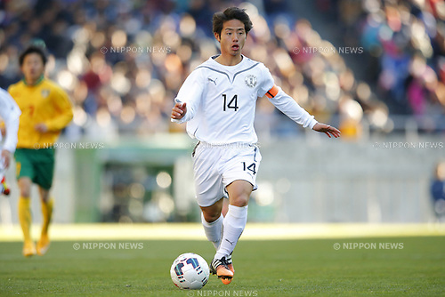 Tokuma Suzuki (Maebashi Ikuei), <br /> JANUARY 12, 2015 - Football / Soccer : <br /> 93rd All Japan High School Soccer Tournament final match between Maebashi Ikuei 2-4 Seiryo at Sitama Stadium 2002, Saitama, Japan. <br /> (Photo by Yusuke Nakanishi/AFLO SPORT) [1090]