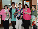 Valerie Haggans, Katriona Scanlon, Geraldine O'Hare, Grealdine Murphy and Ruth Campbell pictured at the Class of '83 school reunion at Our Lady's College Greenhills. Photo:Colin Bell/pressphotos.ie