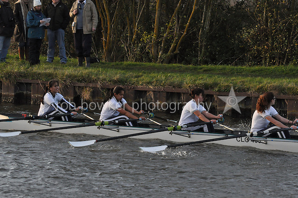 60X CLC Cheltenham. Wycliffe Small Boats Head 2011. Saturday 3 December 2011. c. 2500m on the Gloucester Berkeley Canal
