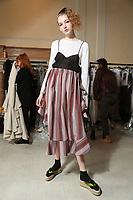 SEPT Isa Arfen backstage at London Fashion Week