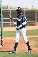 Duanel Jones #26 of the San Diego Padres participates in minor league spring training workouts at the Padres minor league complex on March 19, 2011  in Peoria, Arizona..Photo by:  Bill Mitchell/Four Seam Images.