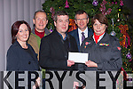 Killarney Lions Club President Sean O'Grady presented the Order of Malta a contribution for all the help throughout the year in the Malton Hotel on Thursday evening l-r: Noreen O'Sullivan, Tim O'Leary, Sean O'Grady President, Liam Kealy and Anne Nagle