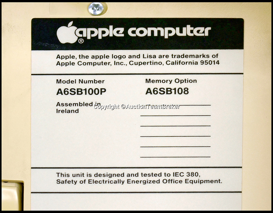 BNPS.co.uk (01202 558833)Pic: AuctionTeamBreker/BNPS<br /> <br /> A rare surviving Apple computer that was the first to use a mouse has emerged for sale for £30,000.<br /> <br /> The Apple Lisa 1 machine was revolutionary as it was the first PC to allow users to interact with the device using the hand tool.<br /> <br /> It also used graphical icons instead of text and was the first time overlapping windows, pull-down menus and the drag and drop function appeared.<br /> <br /> The one now for sale in Germany belongs to a German university professor who was given it as a retirement present.