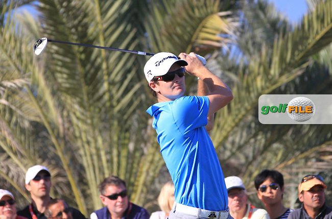 Justin Rose (ENG) tees off the 14th tee during Saturday's Round 3 of the Abu Dhabi HSBC Golf Championship at Abu Dhabi Golf Club, 19th January 2013 .Photo Eoin Clarke/www.golffile.ie