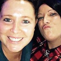 "COPY BY TOM BEDFORD<br /> Pictured: Emma Hughes (L), image taken from open social media site<br /> Re: A ""ruthless"" businesswoman pretended to be the widow of a soldier killed in Afghanistan to get sympathy from her customers.<br /> Emma Hughes, 31, claimed she was left to bring up her twin sons alone after her hero husband was killed in action.<br /> But a court heard Hughes had never been married to a soldier and was in a lesbian relationship.<br /> Double glazing boss Hughes admitted aggressive and commercial practices which left customers thousands of pounds out of pocket.  <br /> Prosecutor Lee Reynolds said: ""She targeted elderly and vulnerable people, mostly women.<br /> ""When things went wrong Hughes said her husband was shot and killed in Afghanistan and she was left to look after their twins.<br /> ""Customers took pity on her and didn't pursue her as vigorously as they would otherwise.""<br /> Merthyr Tydfil Crown Court heard Hughes's windows were dangerous and the firm's workmen left homes in a ""truly shocking condition""."