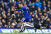 2nd December 2017, Stamford Bridge, London, England; EPL Premier League football, Chelsea versus Newcastle United; Eden Hazard of Chelsea battles with Isaac Hayden of Newcastle United