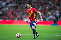 David Silva of Spain during the International Friendly match between England and Spain at Wembley Stadium, London, England on 15 November 2016. Photo by Andy Rowland.