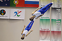 (L to R) Tetsuya Sotomura (JPN), Masaki Ito (JPN), JULY 9, 2011 - Trampoline : 2011 FIG Trampoline World Cup Series Kawasaki Men's Synchro Final at Todoroki Arena, Kanagawa, Japan. (Photo by YUTAKA/AFLO SPORT) [1040]