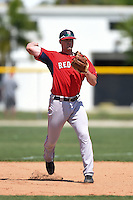 Boston Red Sox Jordan Betts (19) during practice before a minor league spring training game against the Baltimore Orioles on March 20, 2015 at Buck O'Neil Complex in Sarasota, Florida.  (Mike Janes/Four Seam Images)