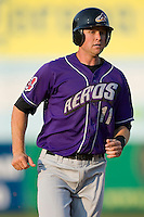 Wes Hodges (11) of the Akron Aeros hustles into third base at Prince Georges Stadium in Bowie, MD, Tuesday June 17, 2008.
