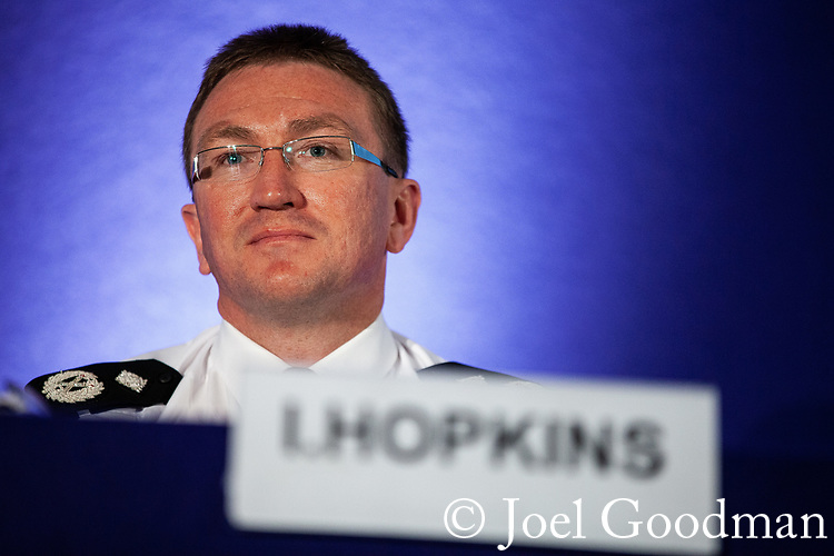 "© Joel Goodman - 07973 332324 . 22/05/2012 .  Manchester , UK . Greater Manchester Police Deputy Chief Constable IAN HOPKINS at the Association of Chief Police Officers ( ACPO ) "" Leading Change in Policing Conference "" , at the Manchester Central Convention Centre . Photo credit: Joel Goodman"
