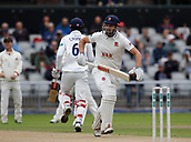 7th September 2017, Emirates Old Trafford, Manchester, England; Specsavers County Championship, Division One; Lancashire versus Essex; A slow start by Essex opening batsmen Nick Browne and Varun Chopra in response to the Lancashire first innings score of 290 all out