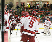 - The Harvard University Crimson defeated the visiting Clarkson University Golden Knights 3-2 on Harvard's senior night on Saturday, February 25, 2012, at Bright Hockey Center in Cambridge, Massachusetts.