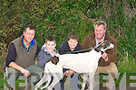 ENJOYING: Having a good time at the Abbeydorney coursing at the weekend were Richard Gentleman with Kieran, Sean and Padraig Regan (Kilmoyley).................