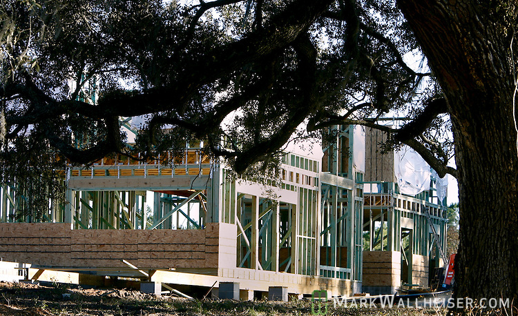 Construction on the Southern Living Magazine Idea House at St Joe's White Fence Farms six miles east of Tallahassee, Florida June 11, 2006.