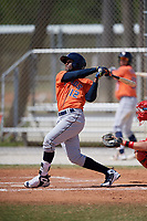 Houston Astros Bryan De La Cruz (12) during a Minor League Spring Training game against the St. Louis Cardinals on March 27, 2018 at the Roger Dean Stadium Complex in Jupiter, Florida.  (Mike Janes/Four Seam Images)
