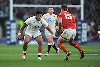 Manu Tuilagi of England prepares to tackle Liam Williams of Wales during the RBS 6 Nations match between England and Wales at Twickenham Stadium on Saturday 12th March 2016 (Photo: Rob Munro/Stewart Communications)