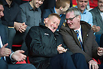 St Johnstone Player of the Year Awards...04.05.13.Manager Steve Lomas having a laugh with Director Stan Harris..Picture by Graeme Hart..Copyright Perthshire Picture Agency.Tel: 01738 623350  Mobile: 07990 594431